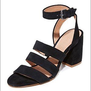 Madewell Maria sandal in black suede